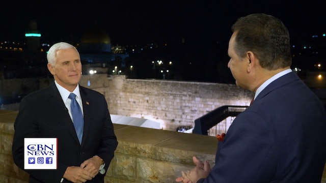 Exclusive: VP Pence in Jerusalem Tells CBN Anti-Semitism is Alive & Well