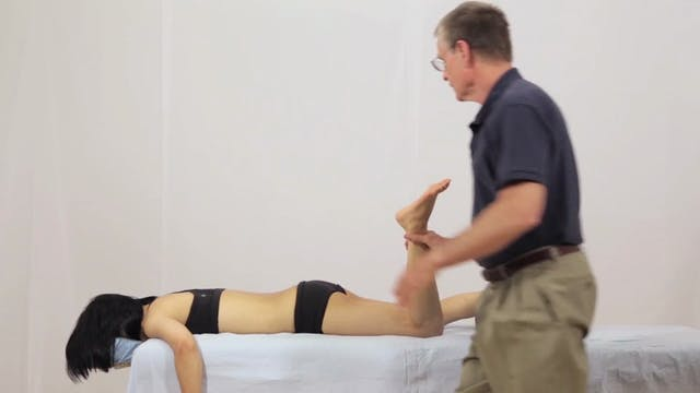 Deep Tissue Massage - An Integrated Full Body Approach: 17] Specific Strategies - Prone Position - Connecting The Back To The Pelvis