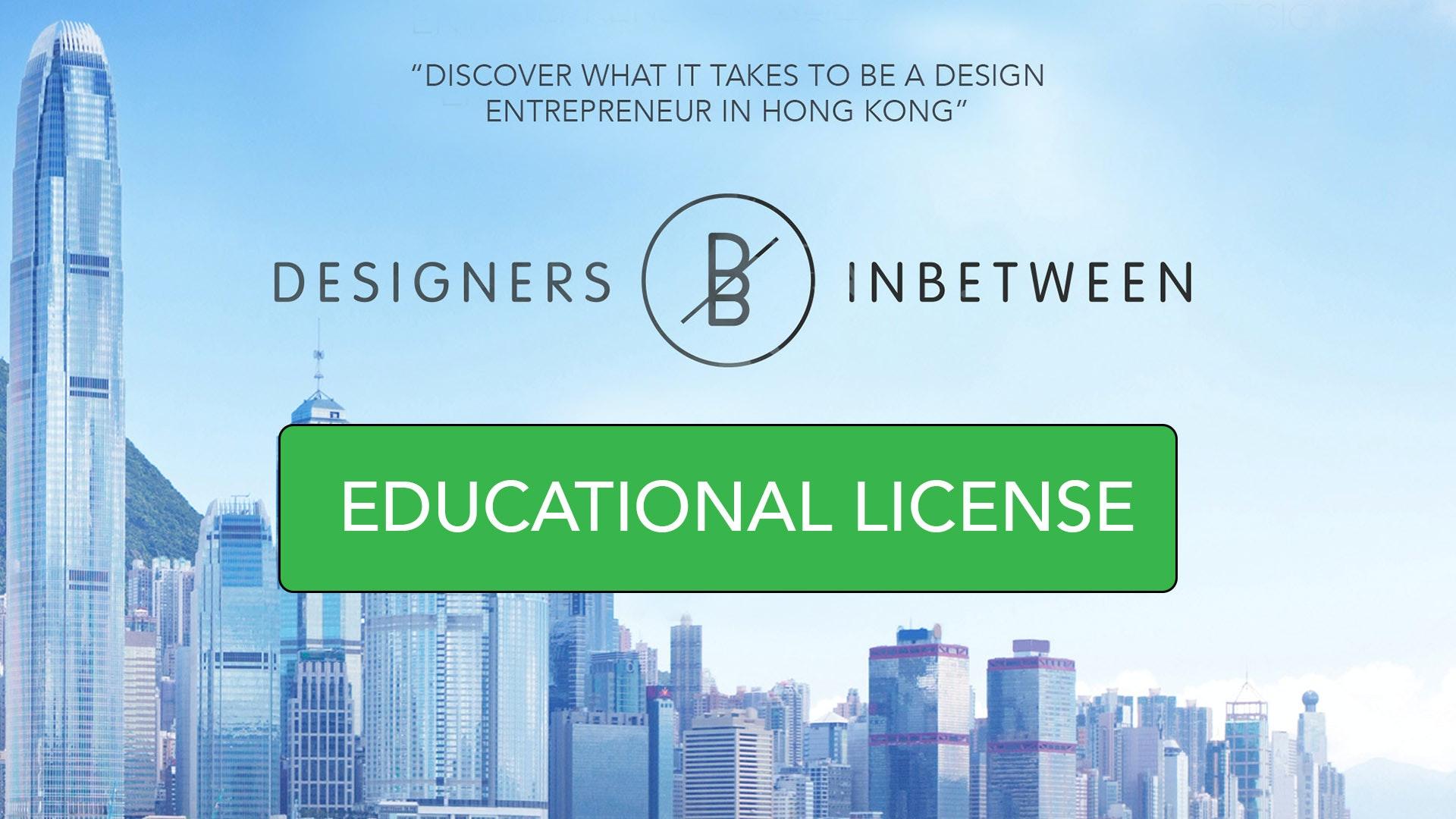 Designers Inbetween -  Educational license