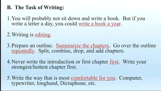 How To Write Your First Book - Session 3 - Dr. Elmer Towns