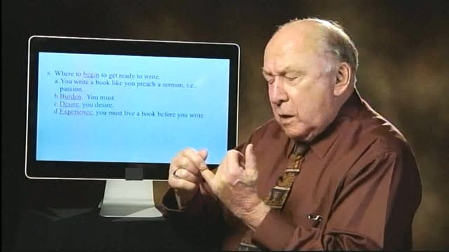 How To Write Your First Book - Session 1 - Dr. Elmer Towns