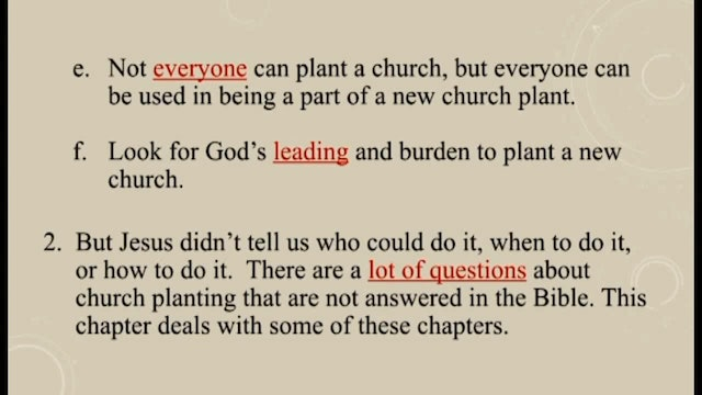 Churches Planting Reproducing Churches - Session 11 - Dr. Elmer Towns