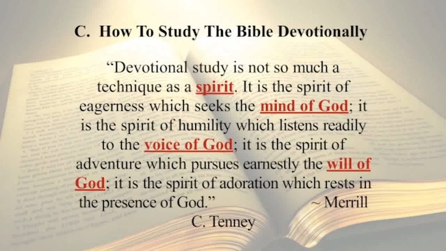 The Word Of God - Session 8 - Dr. Elmer Towns