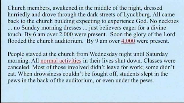 History Of Worship, Revival And Prayer - Session 2 - Dr. Elmer Towns