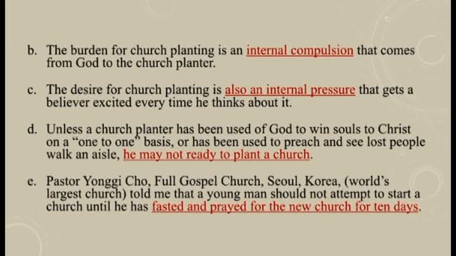 Churches Planting Reproducing Churches - Session 12 - Dr. Elmer Towns