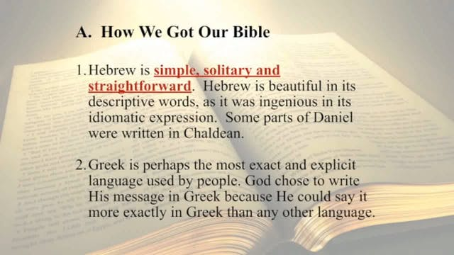 The Word Of God - Session 5 - Dr. Elm...