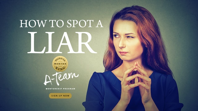How To Spot A Liar - Session 1