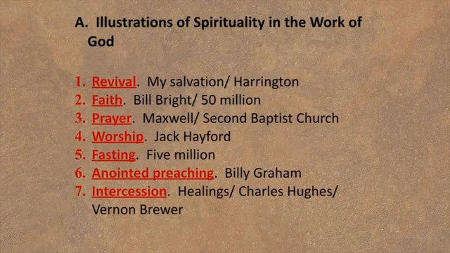 Spiritual Factors Of Ministry - Session 1 - Dr. Elmer Towns