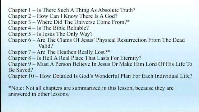 Apologetics And Logic - Session 9 - D...