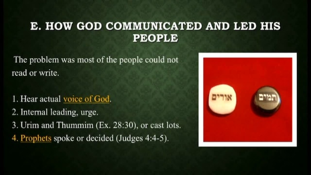 Survey Of The Old Testament - Session 8 - Dr. Elmer Towns