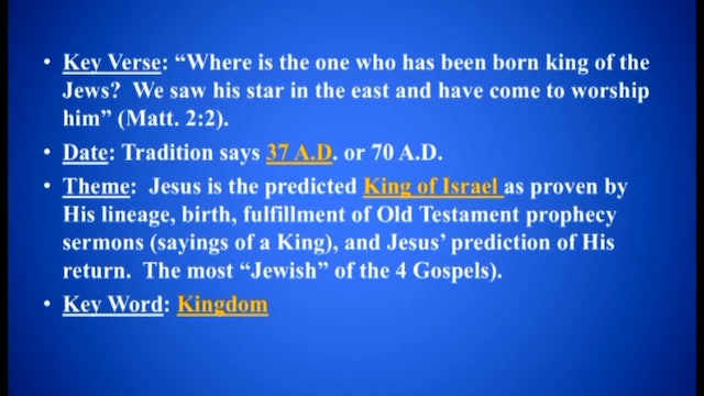 Survey Of The New Testament - Session 2 - Dr. Elmer Towns