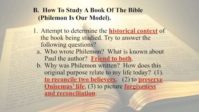 The Word Of God - Session 10 - Dr. El...