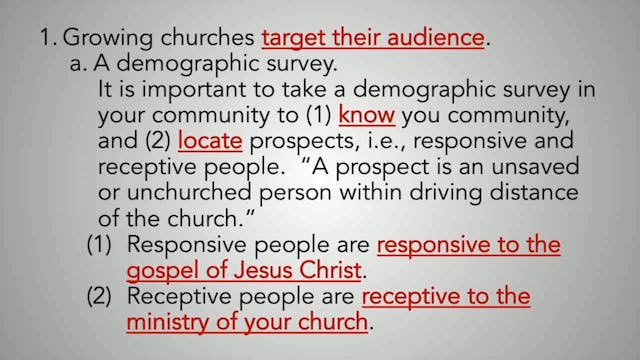 Creating A Culture Of Evangelism - Session 7 - Dr. Elmer Towns