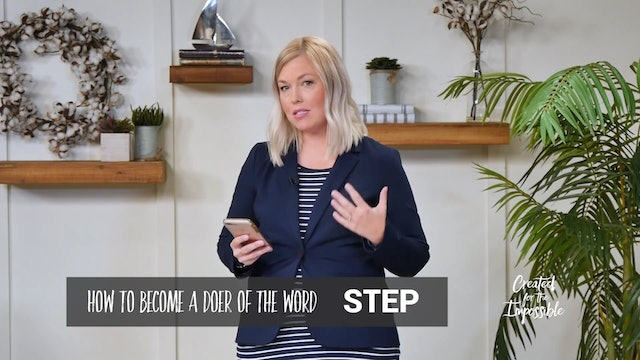 How to Become Doers of the Word with Guest Linda English  Created for the Impossible Ep.21