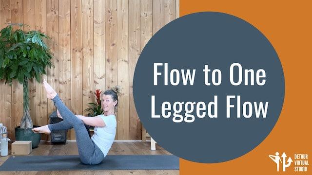 Flow to One Legged Crow