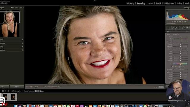 Processing a Black Background Portrait