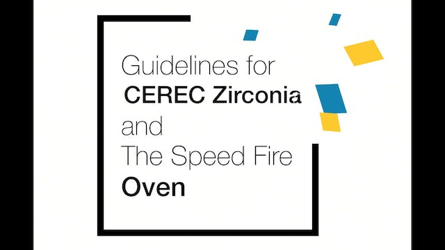 CEREC Speed Fire Guidelines