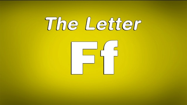 The Letter F - TV Show