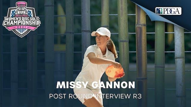 TPWDGC Round 3 - Post Round Interview - Missy Gannon