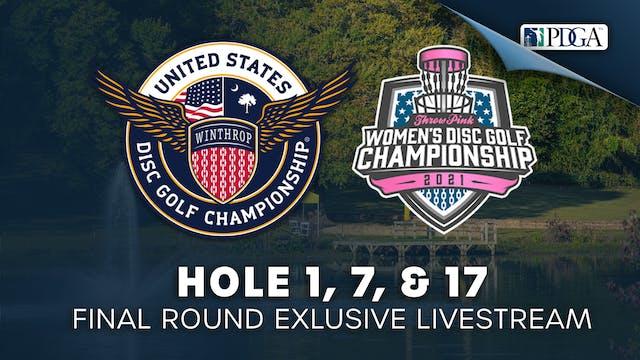 Hole 1, 7 & 17   Round 4   USDGC, TPWDGC