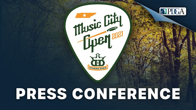Press Conference   Music City Open Presented by Dynamic Discs