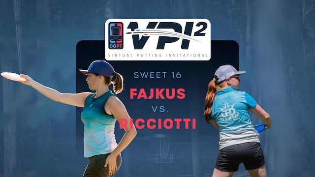 Lisa Fajkus vs Cynthia Ricciotti | VPI2 | SWEET 16