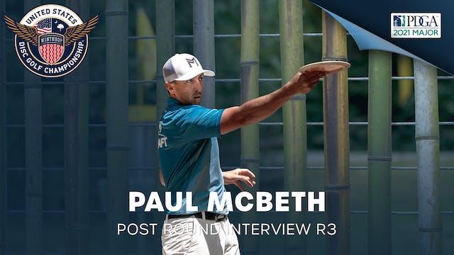 USDGC Round 3 - Post Round Interview - Paul McBeth