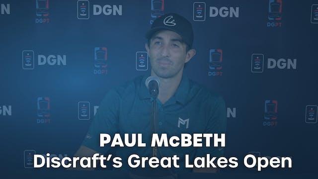 Paul McBeth Press Conference Interview