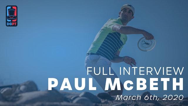 Paul McBeth Full Interview