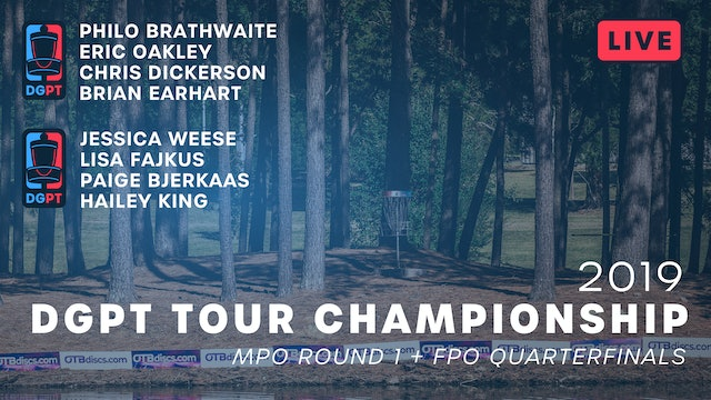 2019 DGPT Tour Championship Live Replay - FPO Quarters + MPO Round 1