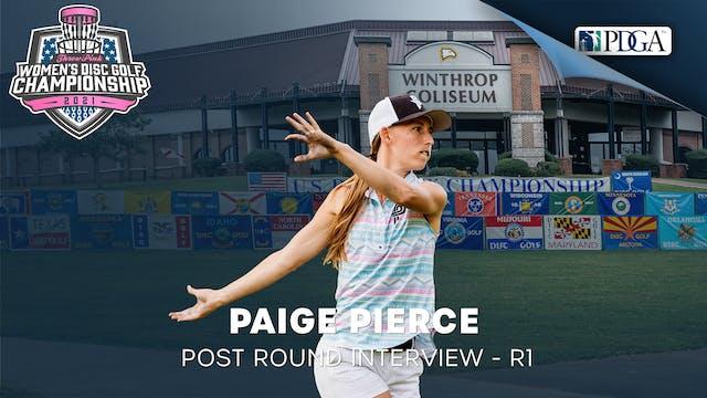 TPWDGC Round 1 - Post Round Interview - Paige Pierce