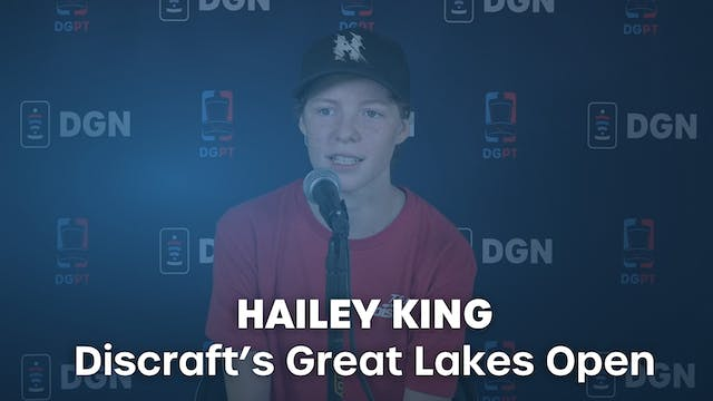 Hailey King Press Conference Interview