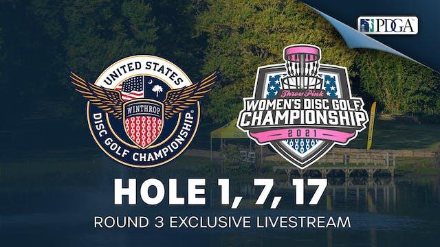 Hole 1, 7 & 17   Round 3   USDGC, TPWDGC