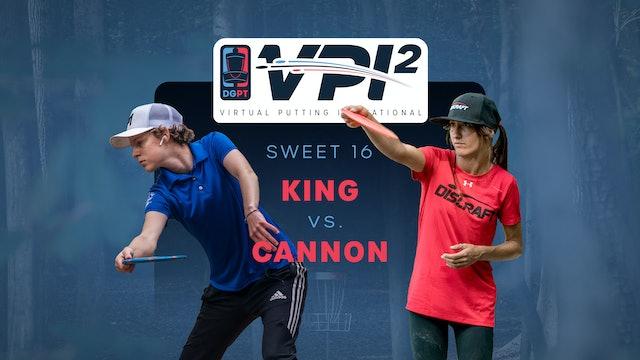 Hailey King vs Courtney Cannon | VPI2 | SWEET 16