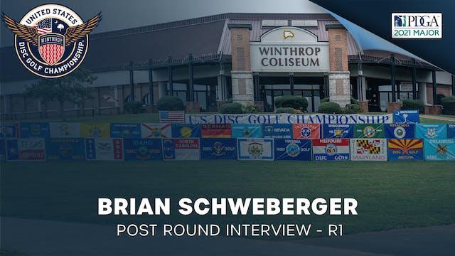 USDGC Round 1 - Post Round Interview - Brian Schweberger