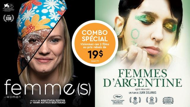 Combo FEMMES et FEMMES D'ARGENTINE Cinéma du Parc