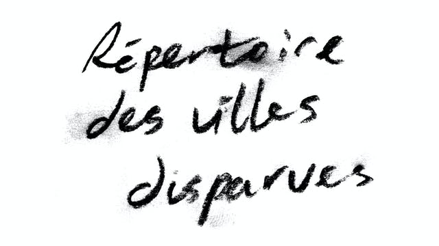 RÉPERTOIRE DES VILLES DISPARUES
