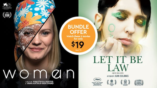 Combo WOMAN and LET IT BE LAW
