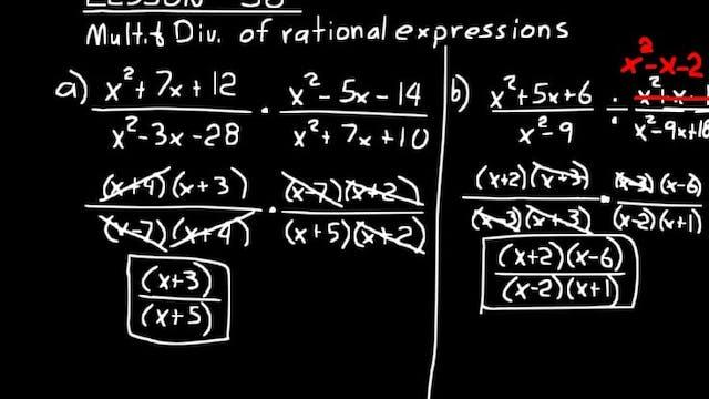 Lesson 36 DIVE Algebra 2, 3rd Edition