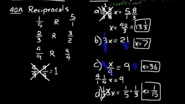 Lesson 40 DIVE Algebra Half, 3rd Edition