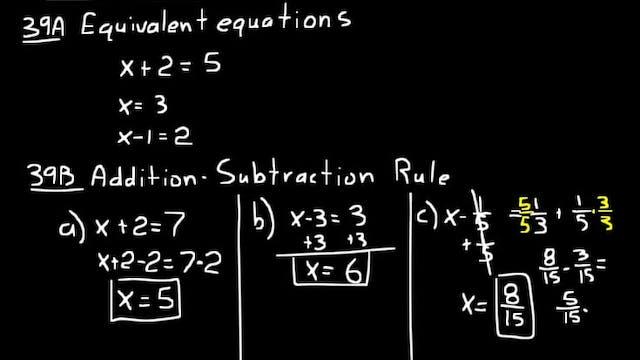 Lesson 39 DIVE Algebra Half, 3rd Edition