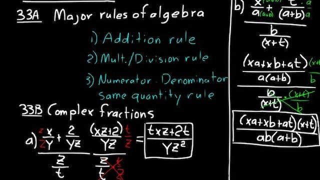 Lesson 33 DIVE Algebra 2, 3rd Edition
