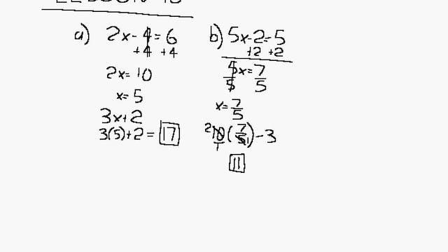 Lesson 98 DIVE Algebra 1/2, 2nd Edition