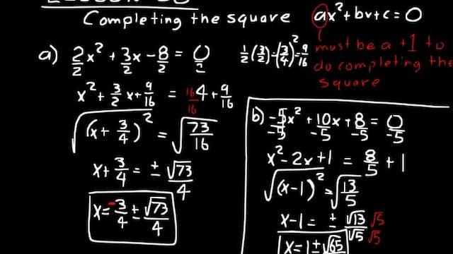 Lesson 58 DIVE Algebra 2, 3rd Edition