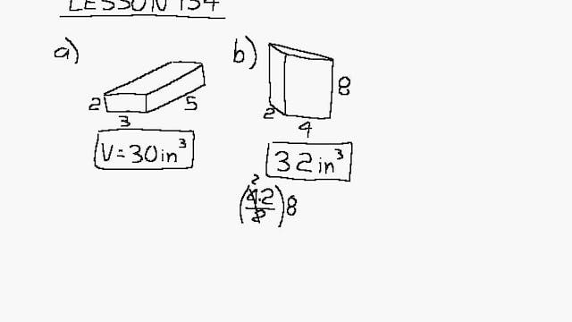Lesson 134 DIVE Algebra 1/2, 2nd Edition