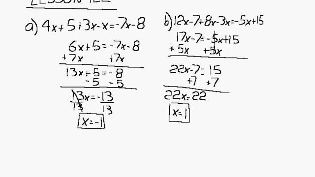 Lesson 122 DIVE Algebra 1/2, 2nd Edition
