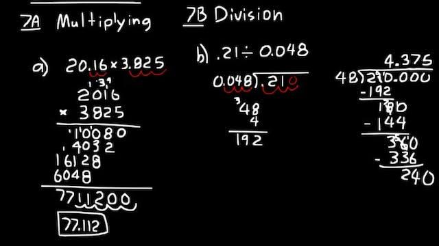 Lesson 7 DIVE Algebra Half, 3rd Edition