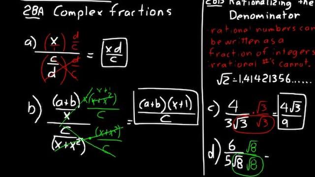 Lesson 28 DIVE Algebra 2, 3rd Edition