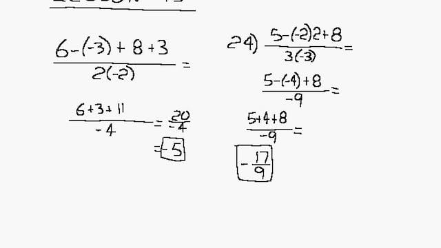 Lesson 95 DIVE Algebra 1/2, 2nd Edition
