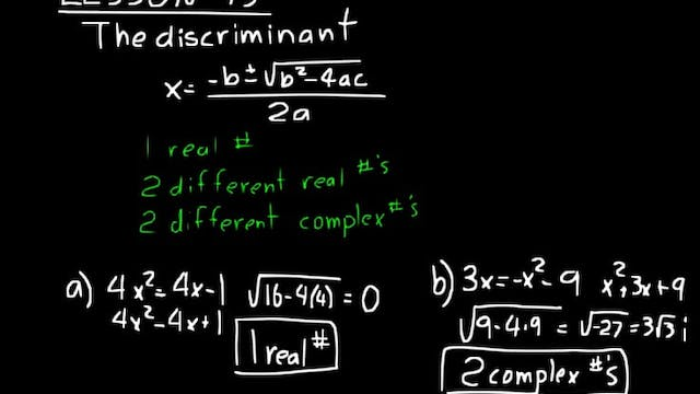 Lesson 93 DIVE Algebra 2, 3rd Edition